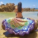 Пляжный коврик Мандала фиолетовый